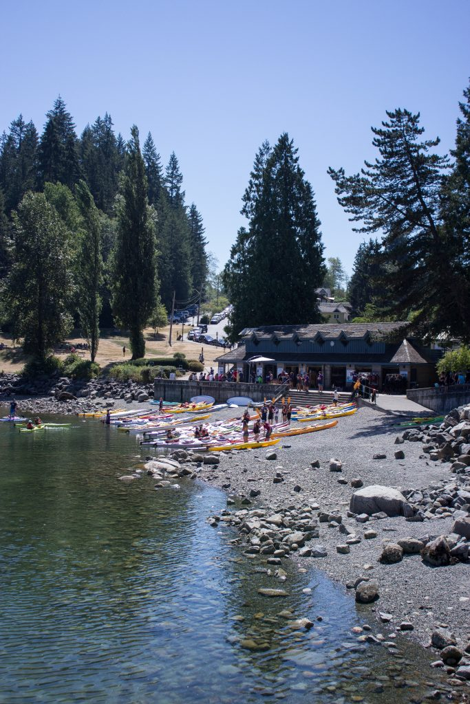 A kayak centre in Deep Cove