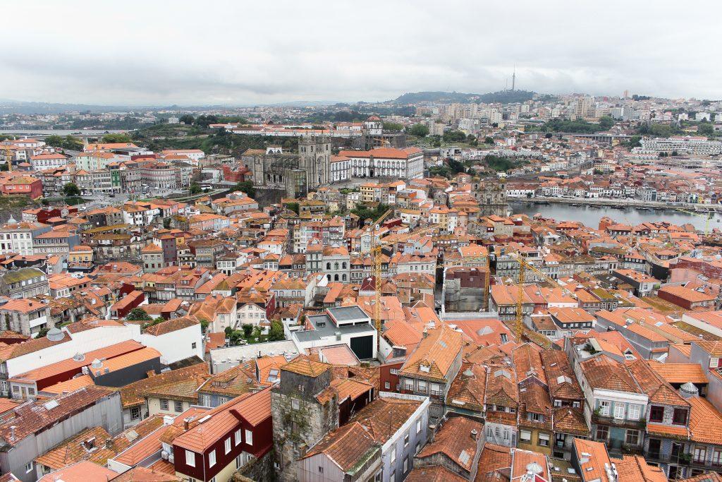 A view of the city of Porto from Torre dos Clerigos, Porto